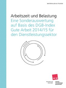 Cover Studie Arbeitszeit und Belastung