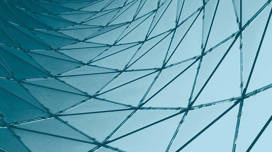 Netz aus dreieckigen Elementen